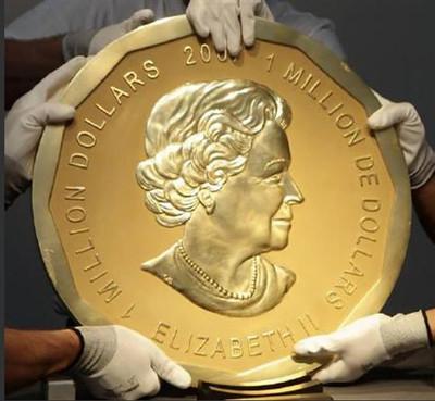★小手指★世界一大きなメイプル金貨??