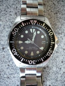 Citizen_Promaster_Eco-Drive_AP0440-14F_Diver's_200_m_on_a_Citizen_bracelet